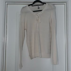 Knit Long Sleeve With Lace Up Detail - Old Navy